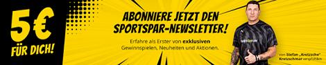 Newsletteranmeldung SportSpar