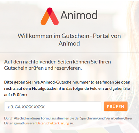 Animod Gutscheinportal