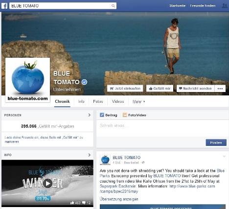 blue tomato facebook