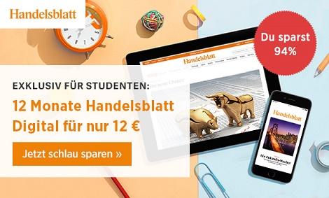 handelsblatt studentenabo für 12 euro