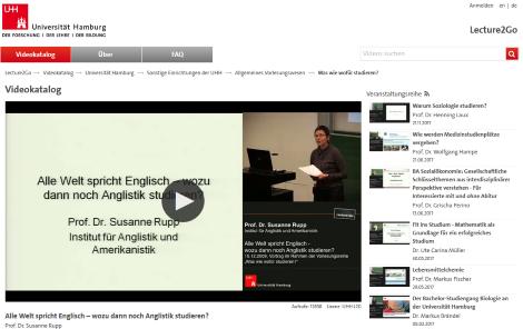 kostenlose lernvideos geisteswissenschaften uni hamburg
