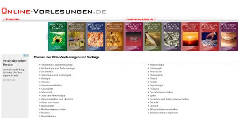 kostenlose lernvideos geisteswissenschaften online-vorlesungen.de