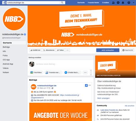notebooksbilliger facebook