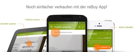 rebuy verkaufen app