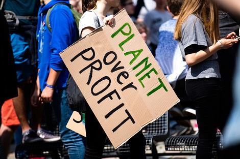 Planet over Profit Plakat