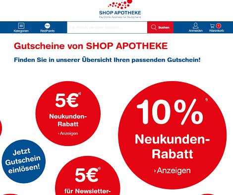 5 Euro Shop Apotheke Gutschein - Mai 2020 | Uniturm.de