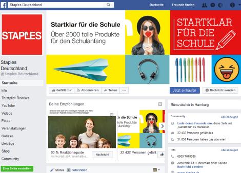 staples facebook
