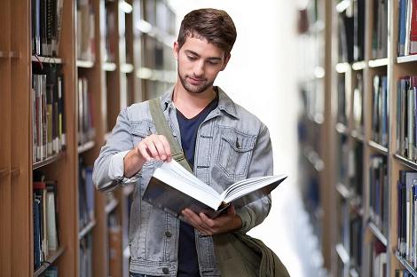 Student Bibliothek Lernen