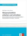 Ulrike A. Richter, Nadja Fügert Wissenschaftlich arbeiten und schreiben: Wissenschaftliche Standards und Arbeitstechniken – Wissenschaftlich formulieren – Textsorten