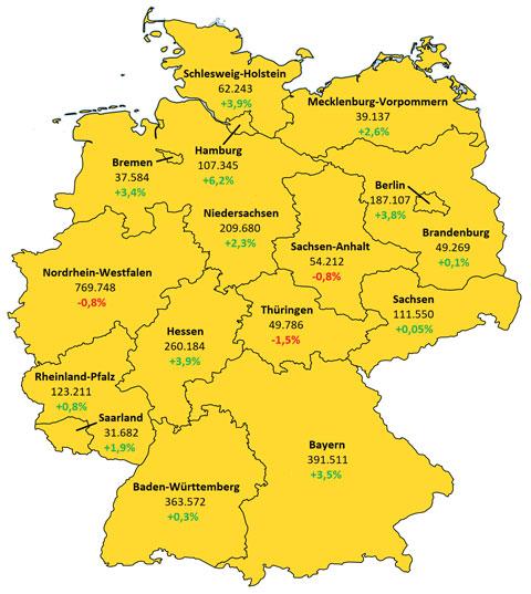 Grafik Zahl der Studenten Deutschland 2017