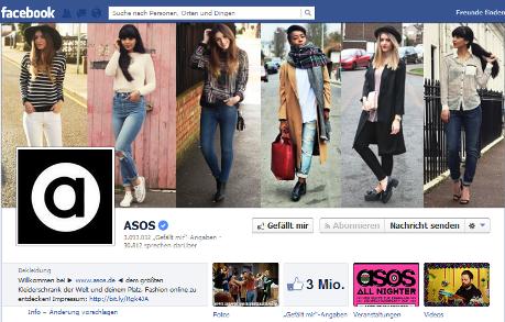 asos facebook