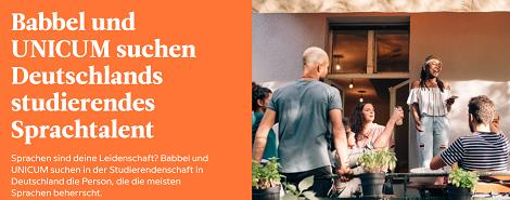 Babbel UNICUM Stipendium