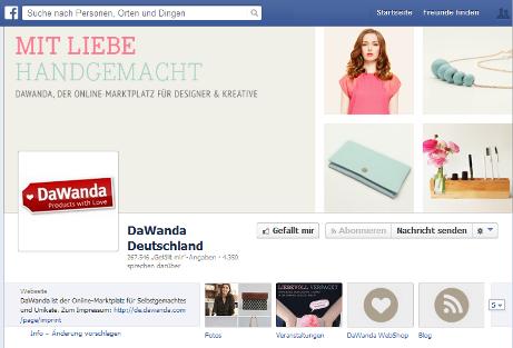 dawanda facebook