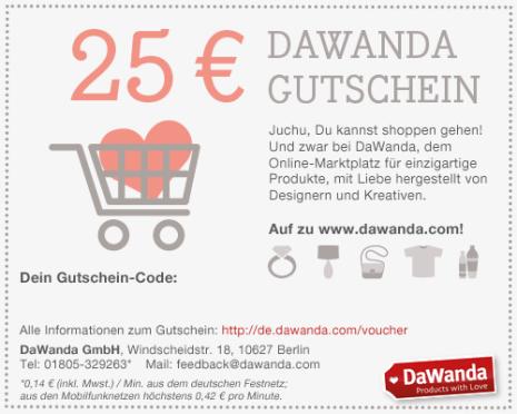 dawanda geschenkgutschein