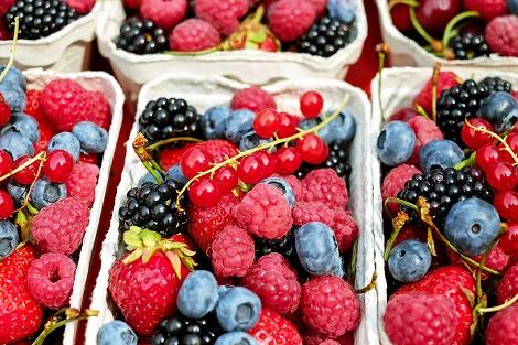 In Klausuren Essen und Trinken Beeren