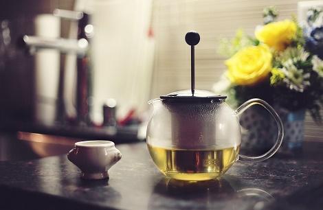 In Klausuren Essen und Trinken grüner Tee