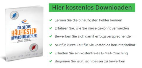 Bild Kostenloses ebook Bewerbungsfehler vermeiden
