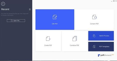 PDFelement 6 Homescreen