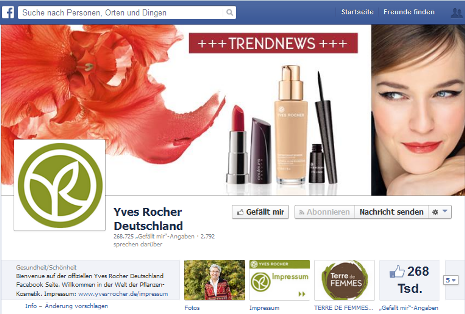 yves rocher facebook